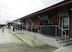 View showing ramp to skills centre